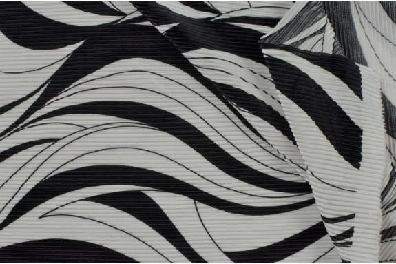Plissé noir et blanc