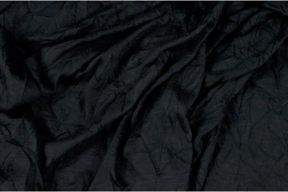 Jersey flammé froissé noir