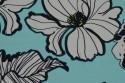 Viscose fleuri vert d'eau