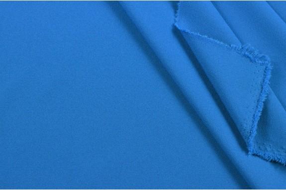 Crêpe stretch bleu roi