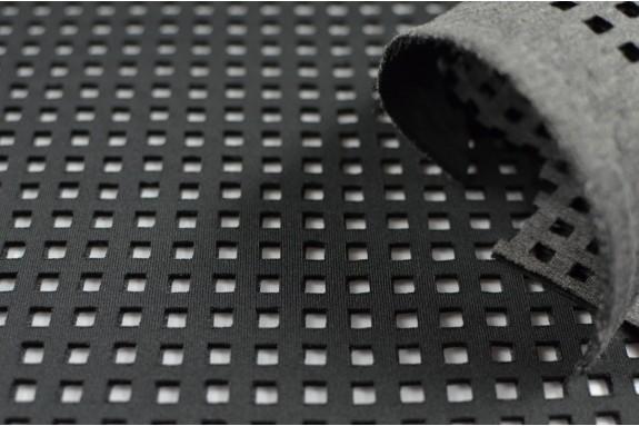 Néoprène perforé noir