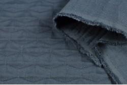 Tissu marine à losanges