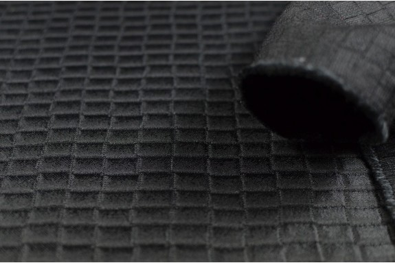 Tissu damassé noir