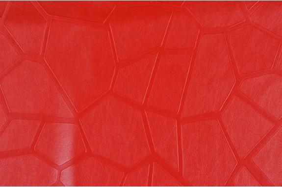 Faux cuir façonné rouge