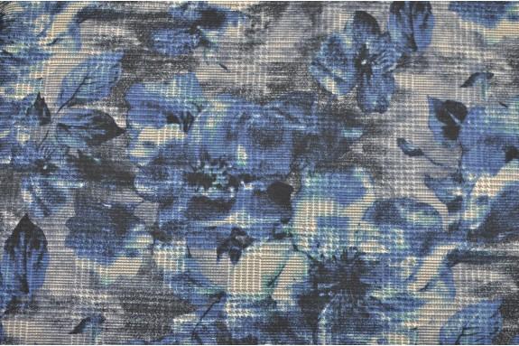 Imprimé structuré bleu