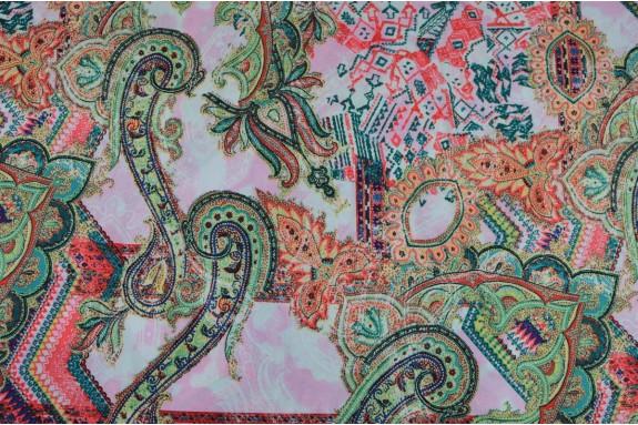 Jersey fluide rose et vert